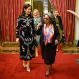 Mary trifft sich im Präsidentenpalast mit Sahle-Work Zewde, die seit Oktober 2018 Präsidentin der Demokratischen Bundesrepublik Äthiopien ist.