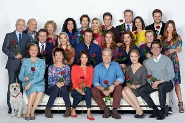 """Gruppenfoto der ARD-Serie """"Rote Rosen"""""""