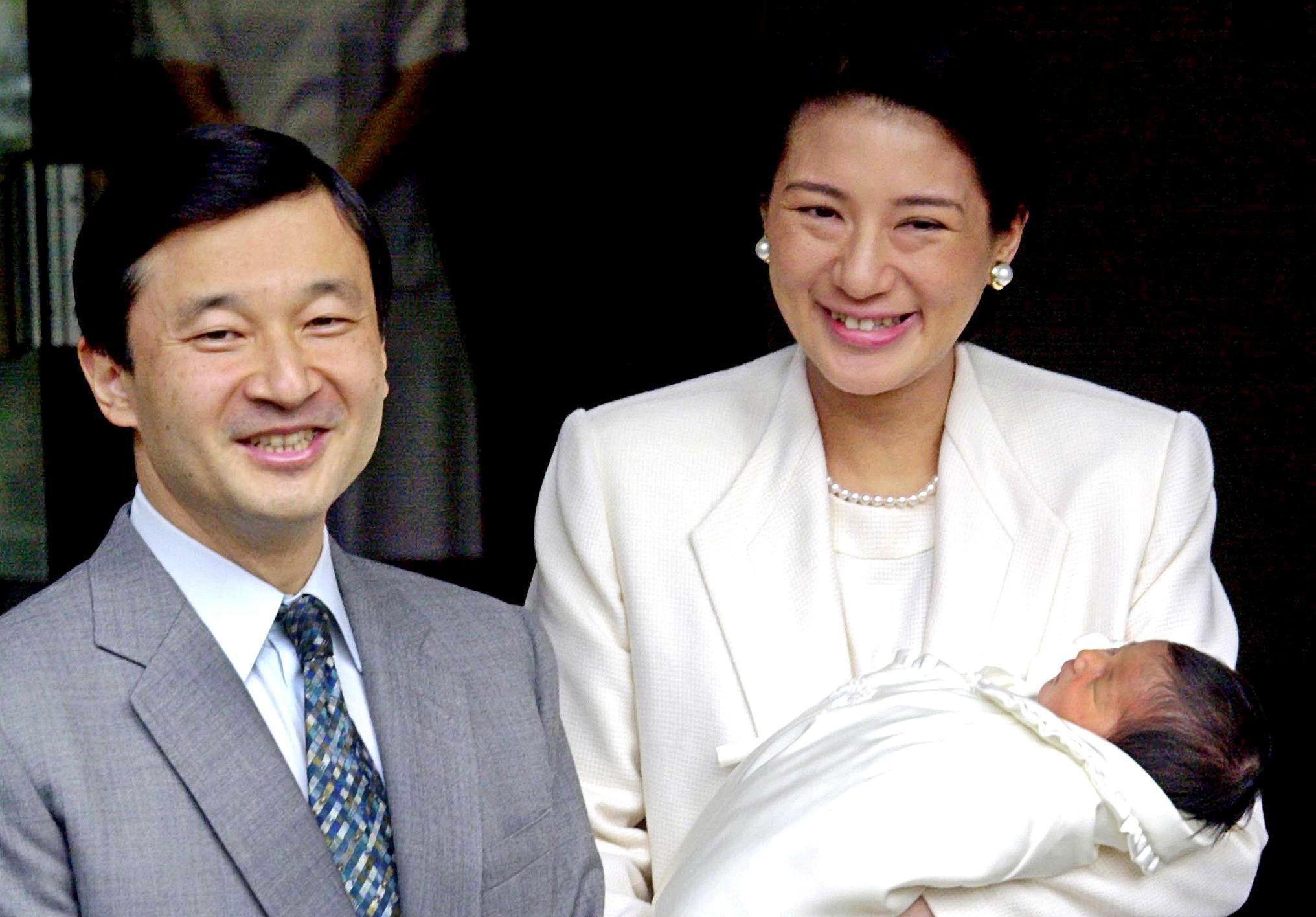 Prinz Naruhito, Prinzessin Masako mit Prinzessin Aiko