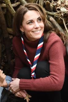 Herzogin Catherine zu Besuch beim Ausbildungszentrum für Pfadfinderleiter in Essex