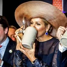 Königin Máxima bei der Jubiläumsfeier der Bierbrauerei Bavaria in Lieshout