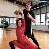 Die Vorfreude auf die nächste Mottoshow bei Sabrina Mockenhaupt und ihrem Tanzpartner Erich Klann steigt.