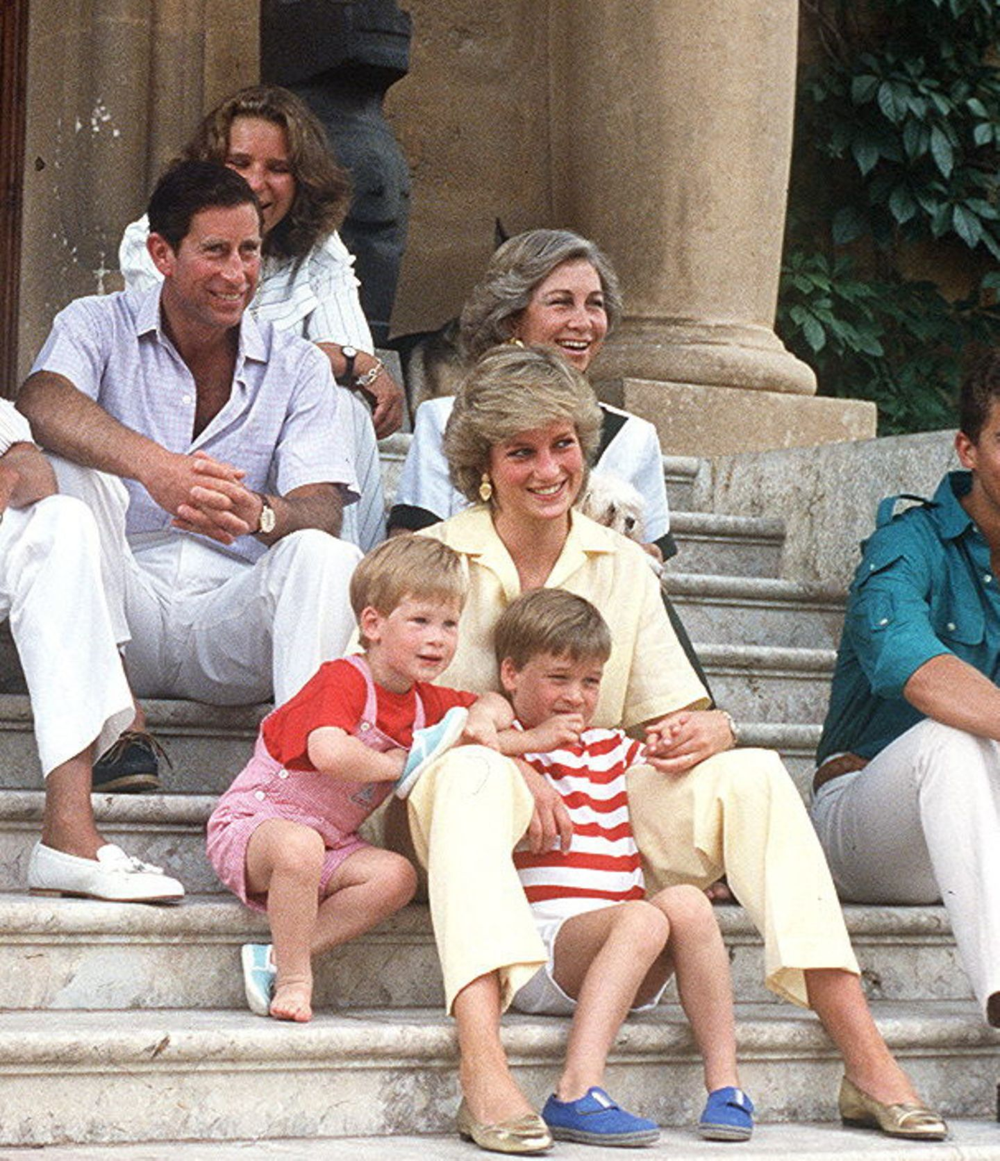 Prinz Charles, Königin Sofia, Prinzessin Diana, Prinz William, Prinz Harry