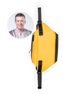 Praktisch reicht Redakteur Steffen nicht aus, seine Taschen müssen natürlich auch stylisch sein.