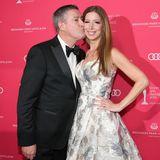 Joachim Llambi schenkt seiner hinreißenden Rebecca Rosenschon ein Küsschen.