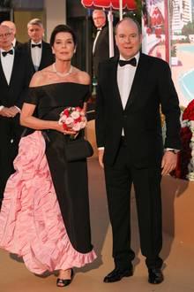 Die Gastgeber des Abends: Prinzessin Caroline von Monaco (in Chanel) und Fürst Albert von Monaco, der ohne seine Frau Charlène erschien.