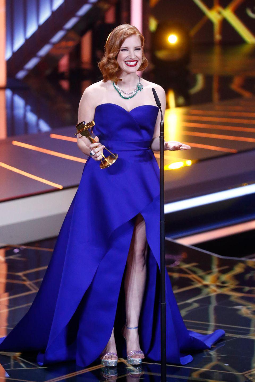 Und der Hollywood-Star freut sich wahnsinnig, als Beste Schauspielerin International ausgezeichnet worden zu sein.