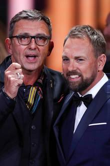 Vollprofi!Steven Gätjen, hier mitHans Sigl, moderiert die Goldene Kamera nun schon zum dritten Mal in Folge.