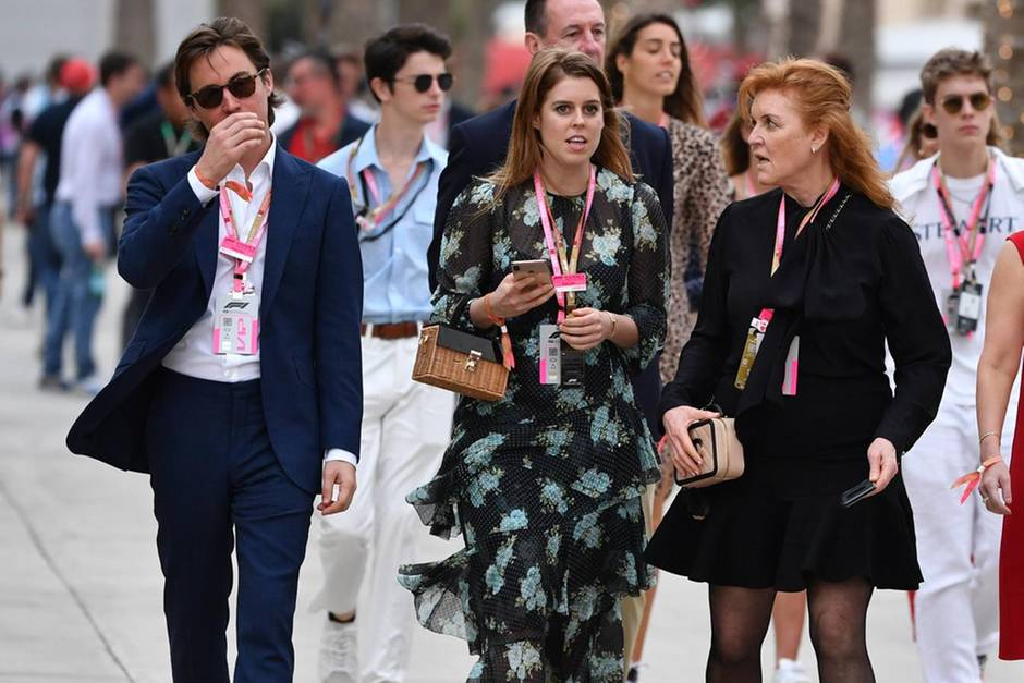 Edoardo Mapelli Mozzi, Prinzessin Beatrice, Sarah Ferguson