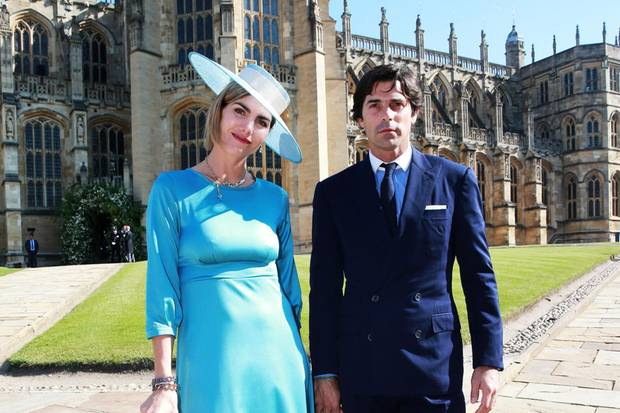 Delfina Blaquier und Nachos Figueras bei der Hochzeit von Prinz Harry und Herzogin Meghan.