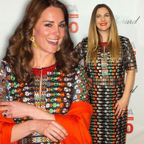 Herzogin Catherine und Drew Barrymore scheinen einen Modegeschmack zu teilen.