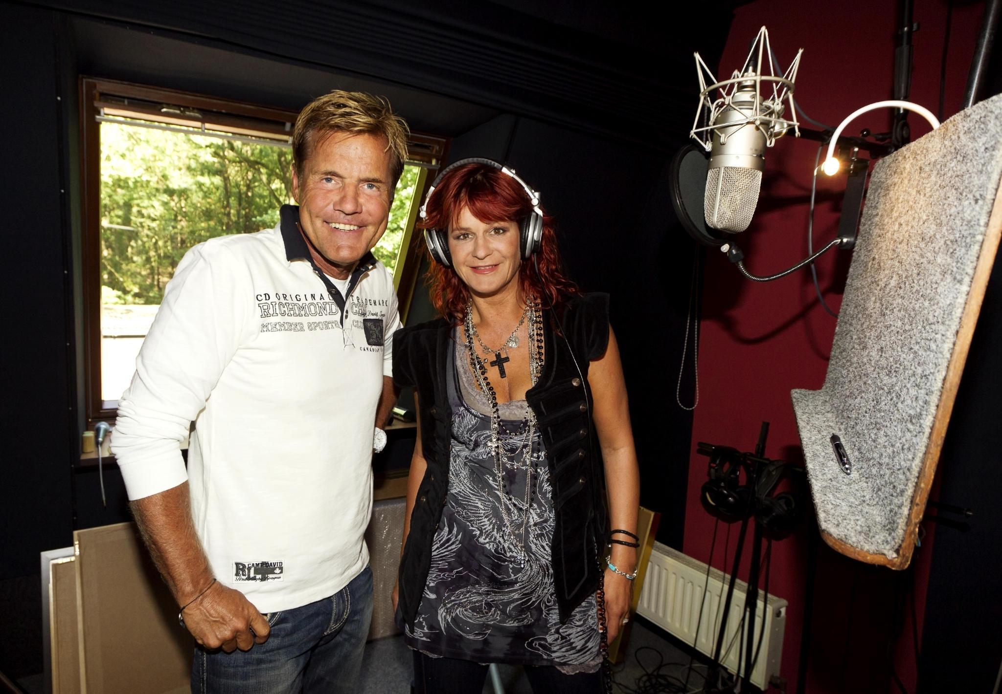 Dieter Bohlen und Andrea Berg bei Studioaufnahmen 2011