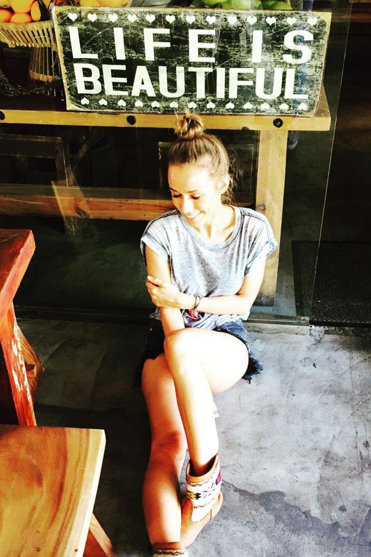 """Annemarie Carpendale  Mit den Worten """"Endlich auch hier angekommen"""" startet die Moderatorin Annemarie Carpendale am 26. Juli 2016 ihre Instagram-Laufbahn."""