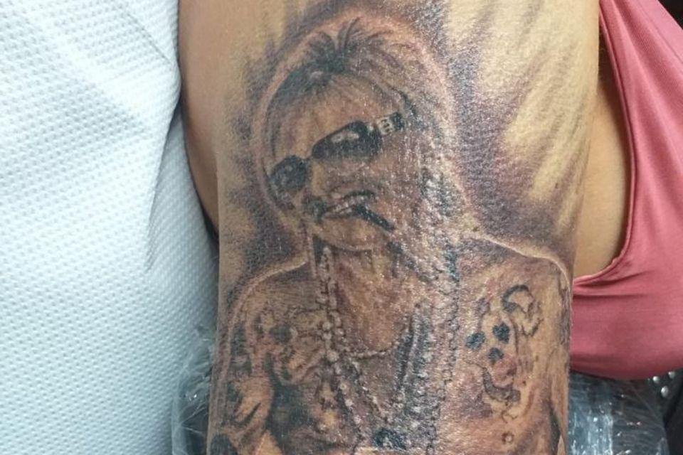 Bert Wollersheim als Tattoo auf dem Oberarm von Ehefrau Ginger