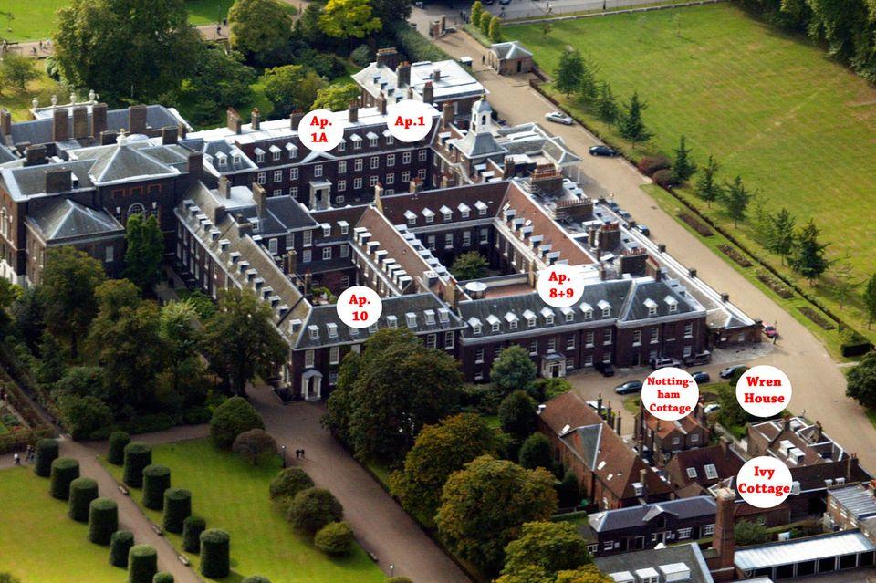 Der Kensington Palast ist das Zuhause vieler britischer Royals