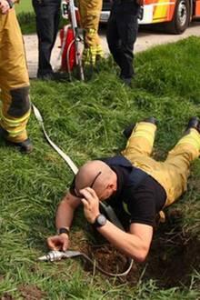 In der Kanalisation: Helfer hören komische Geräusche – dann folgt eine spektakuläre Rettung