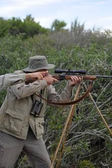 Wilder bei der Jagd in Südafrika