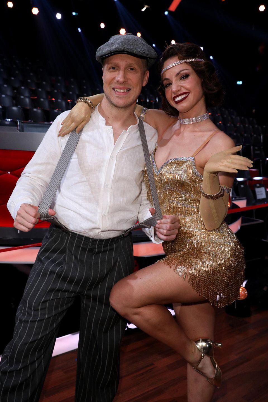 Oliver Pocher mit seiner Tanzpartnerin Christina Luft