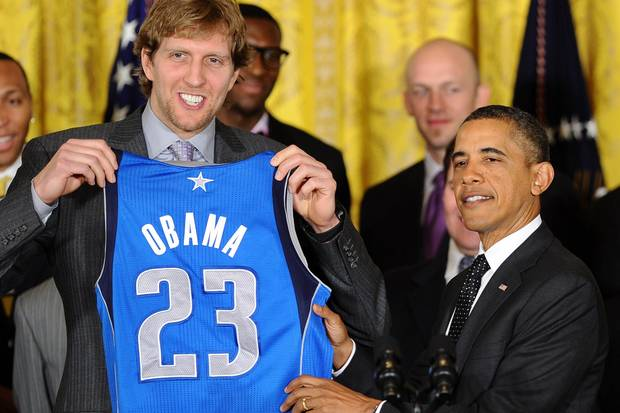 Dirk Nowitzki, Barrack Obama