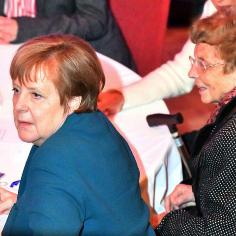 Angela Merkel und ihre MutterHerlind Kasner (†)