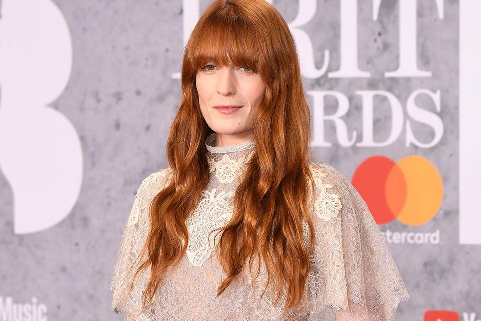 Ihre roten Haare sind das Markenzeichen von Sängerin Florence Welch.