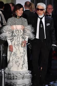 Caroline von Hannover und Karl Lagerfeld