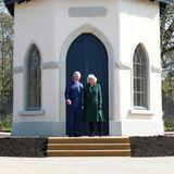 Nach einer fünfjährigen Renovierungsphase kommen Prinz Charles und Herzogin Camilla zur offiziellen Neueröffnung von Hillsborough Castle.