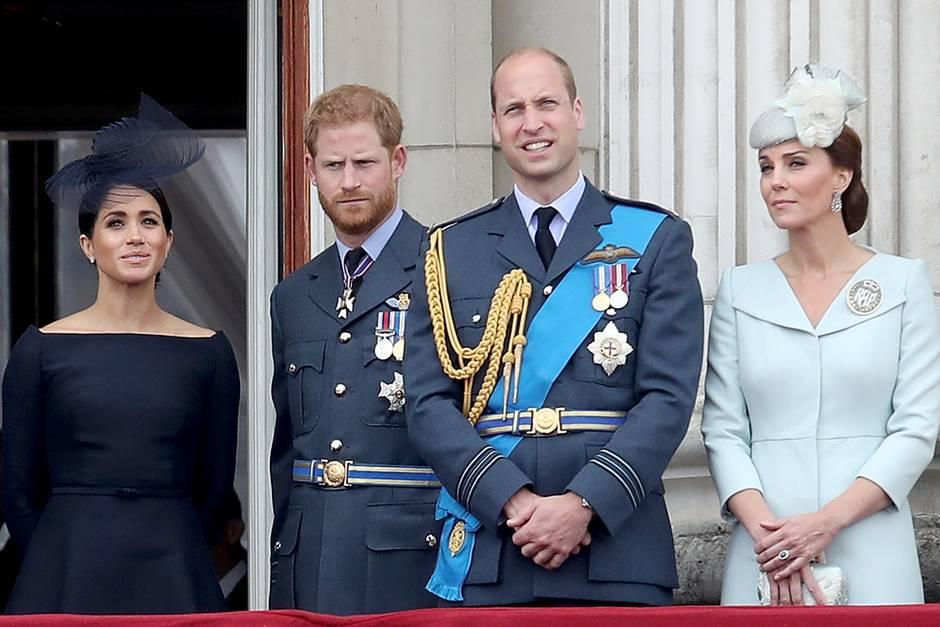 Herzogin Meghan, Prinz Harry, Prinz William, Herzogin Catherine