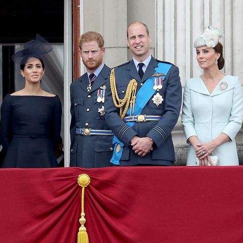 Herzogin Meghan, Prinz Harry, Prinz William, Herzogin Catherine