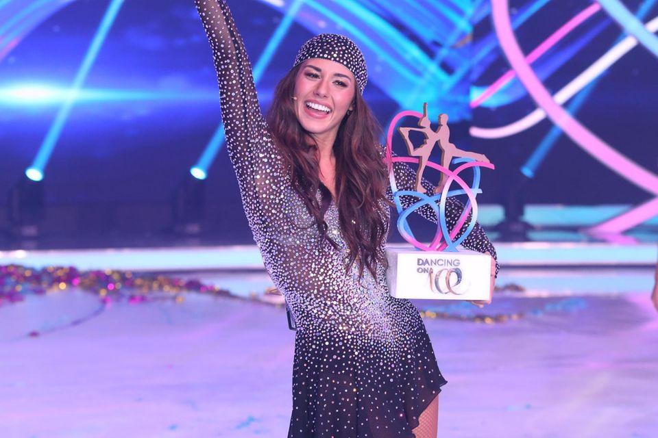 "Sarah Lombardi hat Anfang des Jahres 2019 die Show ""Dancing on Ice"" gewonnen."