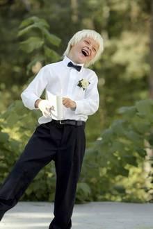 Klein-Marius bei der Hochzeit seines Vaters 2004