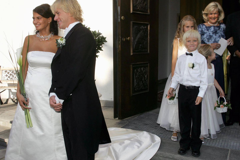 Marius Borg Høiby bei der Hochzeit seines Vaters