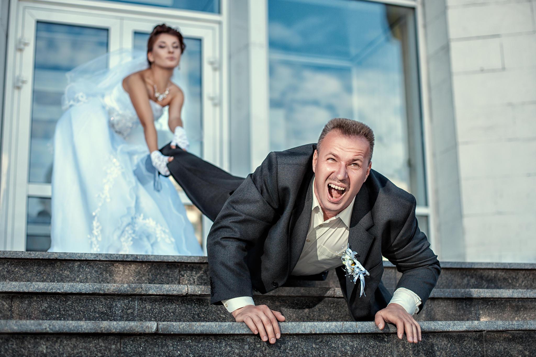 Die Ex-Freundin des Bräutigams versuchte dessen Hochzeit zu crashen.