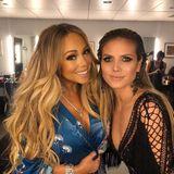 Mariah Carey und Heidi Klum sehen sich zwar selten, aber wenn sie aufeinander stoßen, verstehe sie sich prächtig. Vielleicht geht also auch eine Einladung auf den Weg zu der Popdiva.