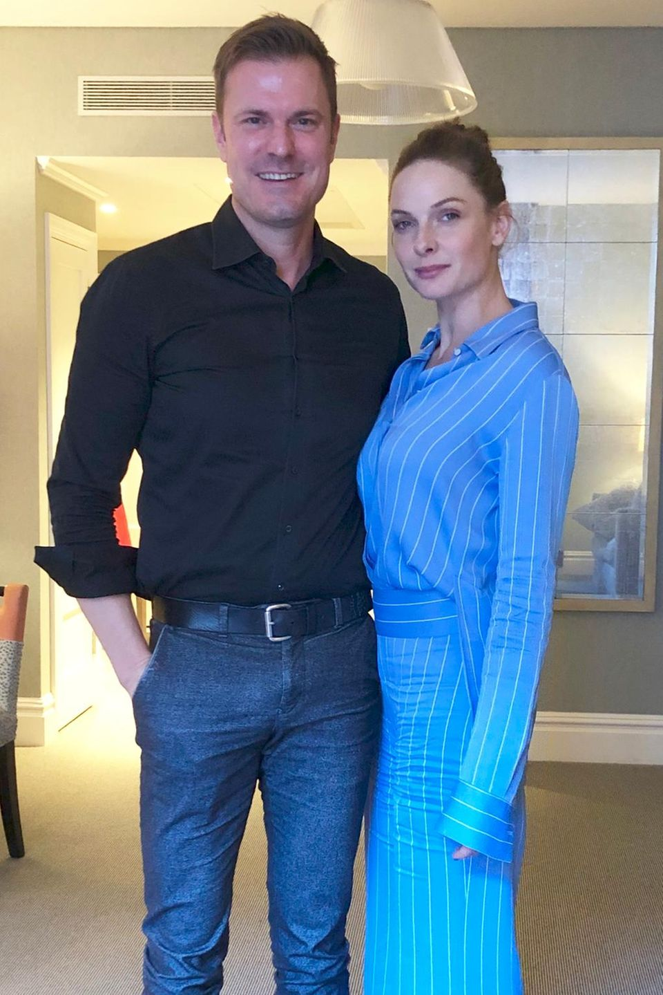 Alexander Nebe führte das Interview mitRebecca Ferguson im Soho Hotelin London.