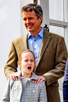 16. April 2019  Prinzessin Josephine kann sich ein Gähnen nicht verkneifen.