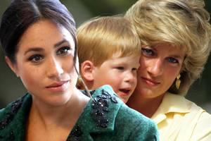 Herzogin Meghan, Prinz Harry, Prinzessin Diana (†)