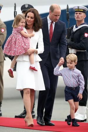 Herzogin Catherine, Prinz William, Prinzessin Charlotte, Prinz George