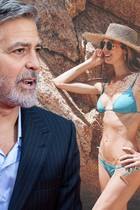 George Clooney, Stacy Keibler.