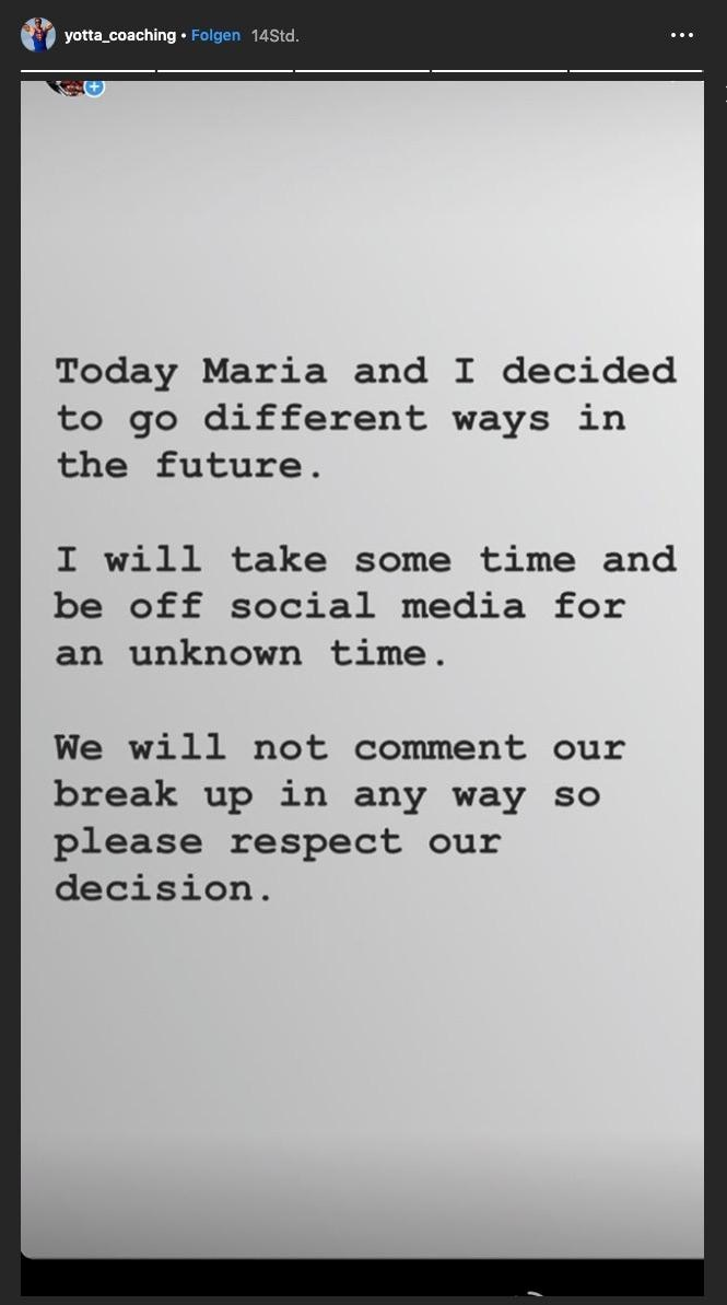 Auf Instagram verkündet der 42-Jährige die Trennung