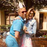"""20. April 2019  Ayda Fieldverbringt mit ihrem Gatten Robbie Williams, dem """"sexiest bunny in town"""", ein sonniges Osterwochenende."""