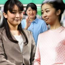 Japans Prinzessinnen Mako, Aiko und Kako (v.l.n.r.)