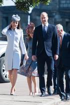 Die Familie von Queen Elizabeth macht sich am Ostersonntag, dem Geburtstag der Königin, auf zum Gottesdienst in der St George's Chapel von Schloss Windsor