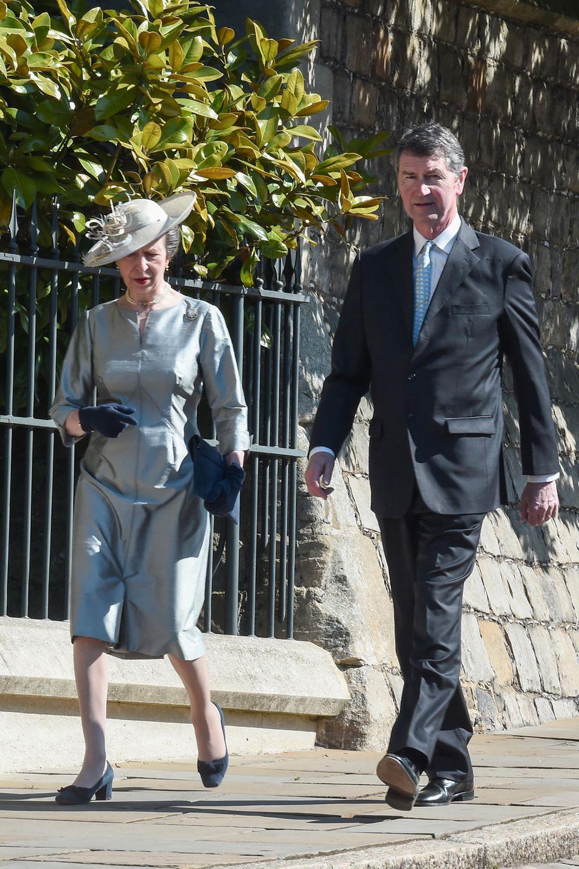 Auch Prinzessin Anne undSir Timothy Laurence sind natürlich mit von der österlichen Partie.