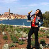 Urlauberin Salma Hayek schickt ihren Instagram-Fans fröhliche Ostergrüße aus Kroatien.