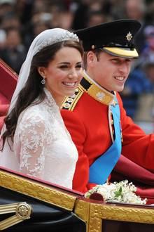 Herzogin Catherine und Prinz William bei ihrer Hochzeit in 2011