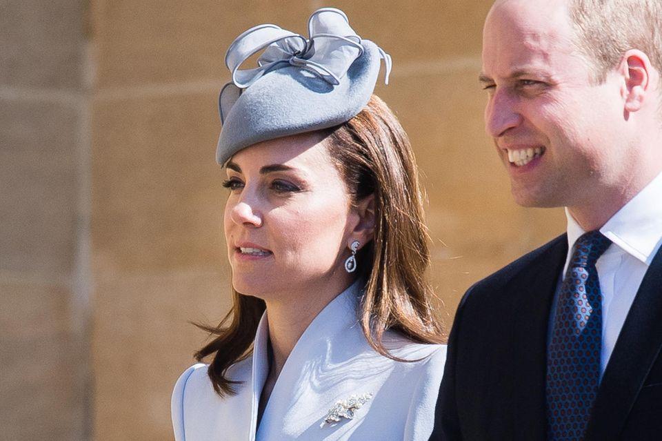 Am Ostersonntag 2019, der gleichzeitig auch der Geburtstag der Queen ist, trägt Herzogin Catherine ihre Ohrringe, die sie damals zur Hochzeit geschenkt bekam.