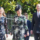 Familie Wessex ist mit Lady Louise, Gräfin Sophie, Sohn James, Viscount Severn und Prinz Edward vollständig vertreten.
