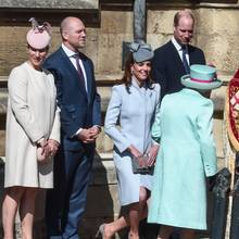 Prinz Harry, Zara Tindall, Mike Tindall, Herzogin Catherine, Prinz William und Queen Elizabeth