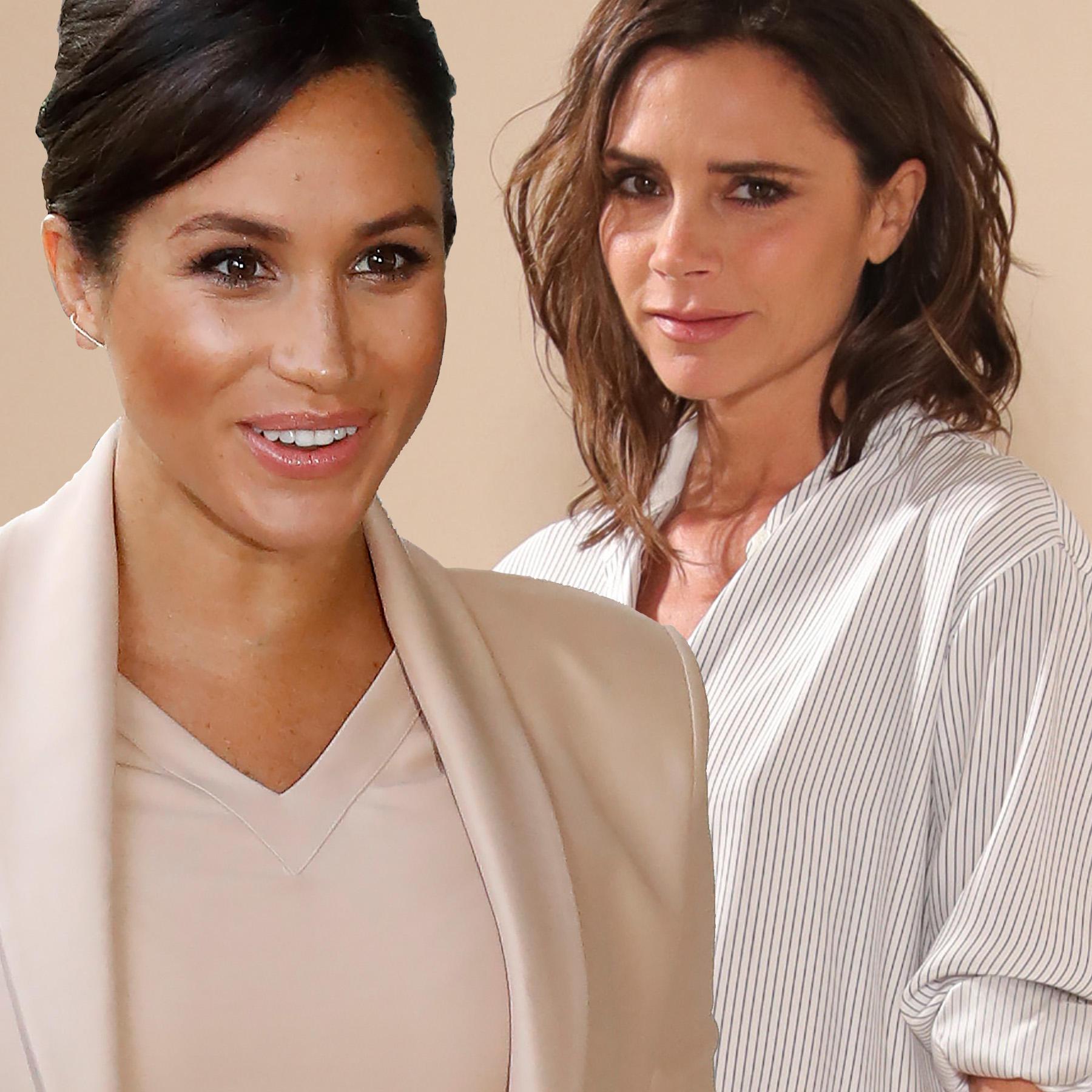 Herzogin Meghan und Victoria Beckham